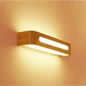 Aplique lampara madera maciza led